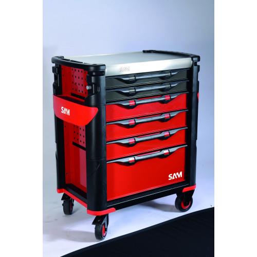 416 sabz s rie 41 servante grand volume 6 tiroirs badge lectronique livr e avec 2 badges. Black Bedroom Furniture Sets. Home Design Ideas